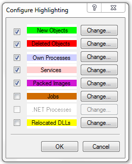 Configure Highlighting of Processes