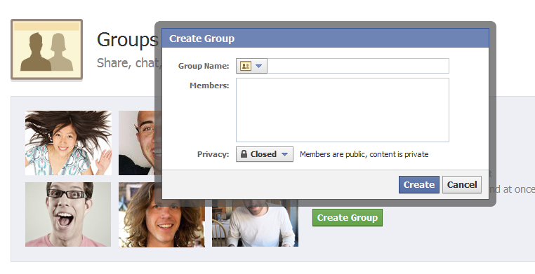 Creating Facebook Group