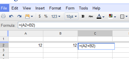 Editable Formula Bar - New Google Docs