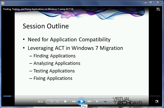 Finding, Testing, and Fixing Applications on Windows 7 using ACT 5.6