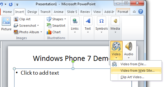 Insert YouTube Video onto a PowerPoint Presentation