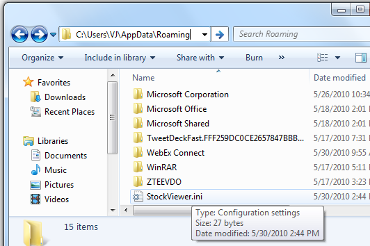 Redirected File gets Created in the User AppData