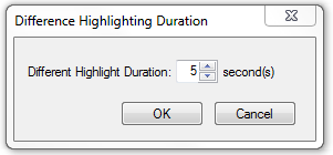 Configuring highlighting Duration
